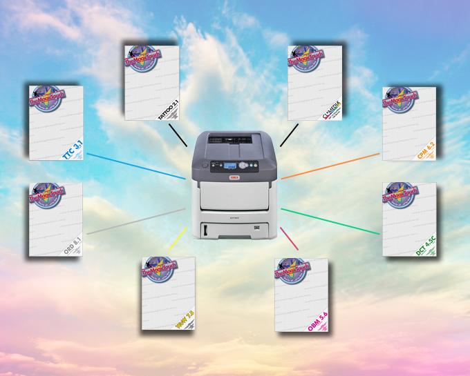 Imprimanta cu toner alb OKI 711 WT